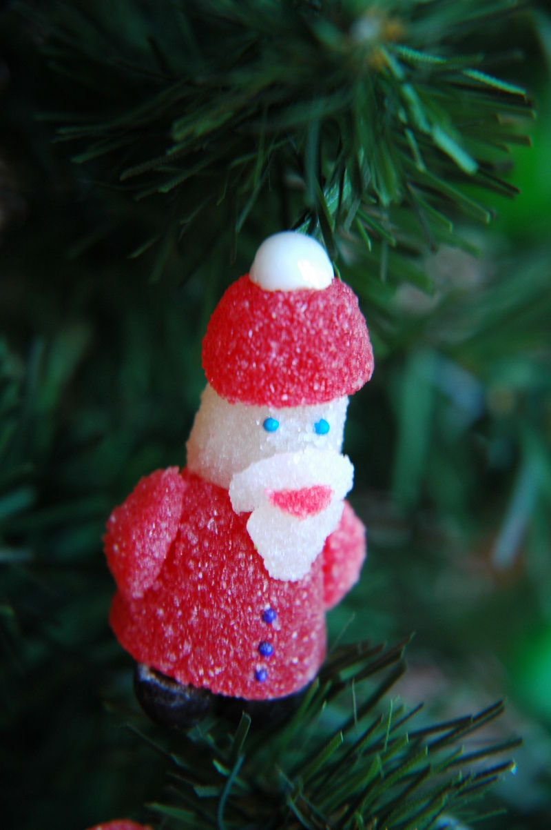 Santa Candy Ornament