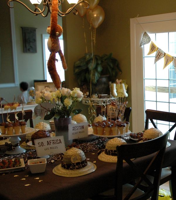Safari Birthday Party Bunny Cakes