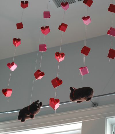 Quilled Hearts Ceiling Love
