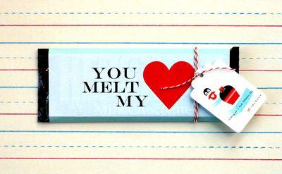 Valentine's Day Iceberg Chocolate Bars