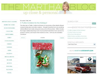 Martha Blog Holiday Pictures