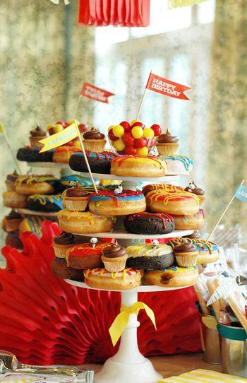 Donut Tower for Panda + Donut Party - BunnyCakes Blog