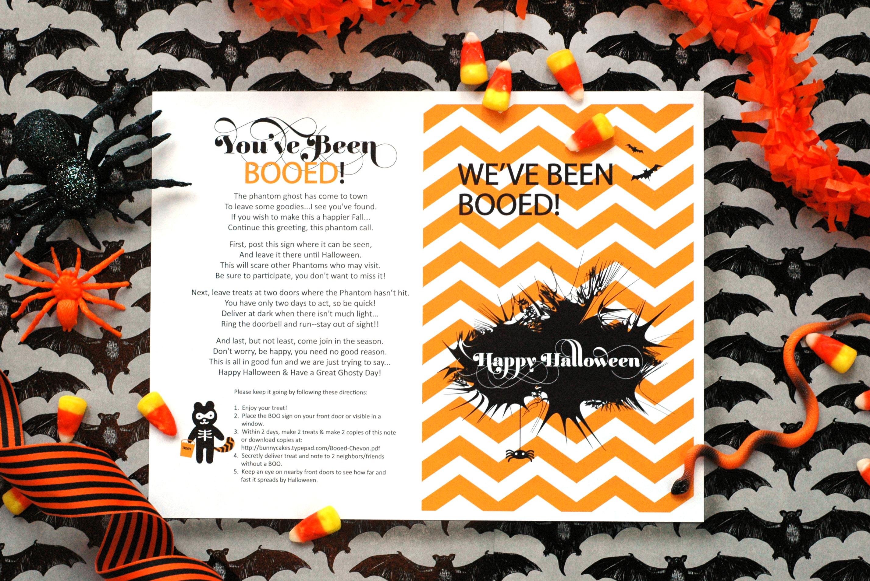 Chevron Halloween Boo Poem