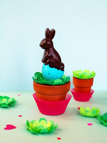 Chocolate Bunny Pop + Egg Nest //BunnyCakes