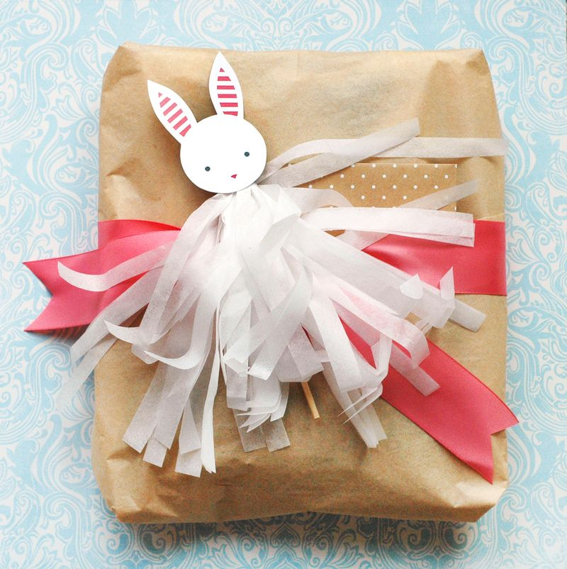 Bunny Tassel Gift Topper // BunnyCakes
