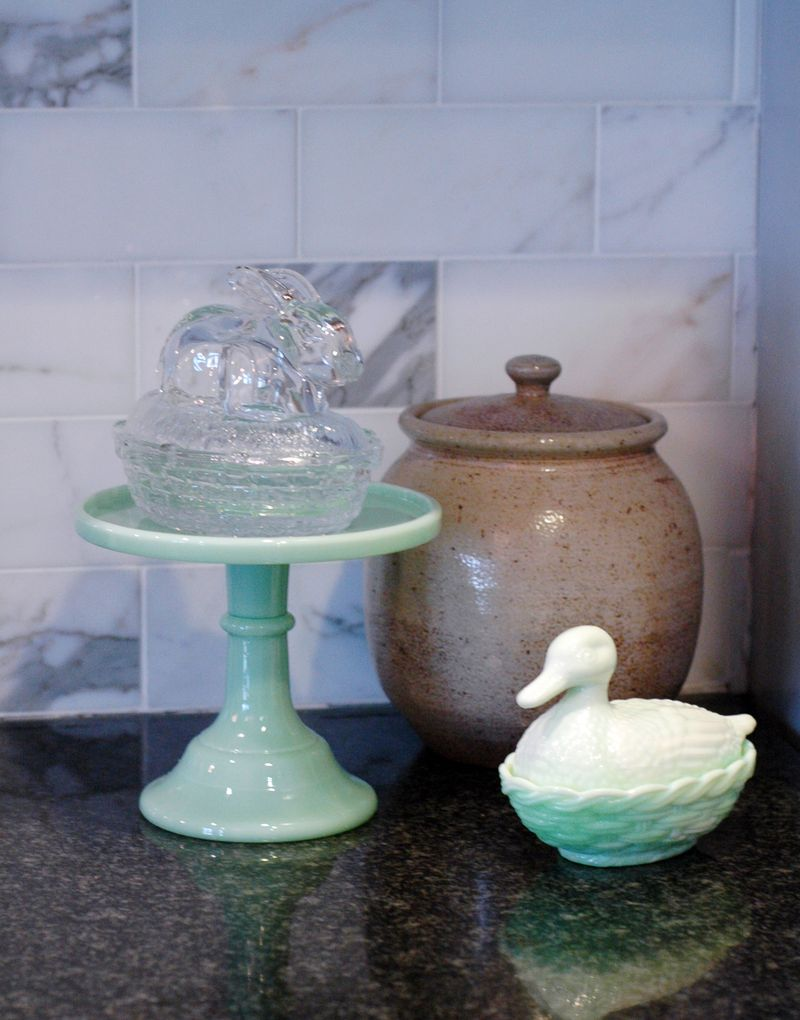 Jadeite Duck & Glass Bunny // BunnyCakes
