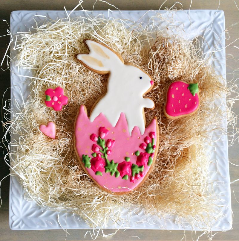 Easter Sugar Cookies // BunnyCakes