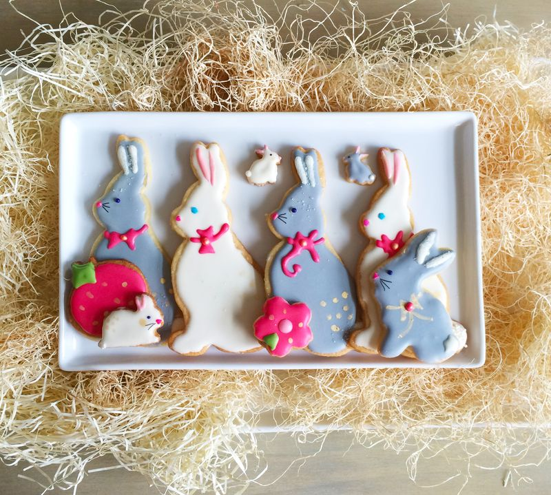 Easter Sugar Cookies // BunnyCakes