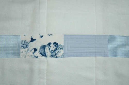 Puppy Dog Quilted Burb Cloth