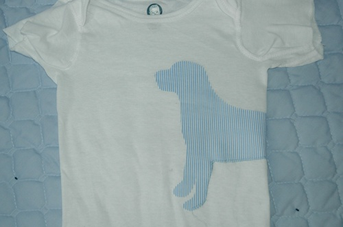 Puppy Dog Appliqued Onesie