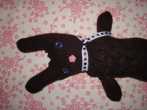 Chocolate Glove Bunny