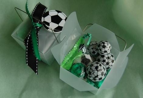Soccer Treat Favor Box