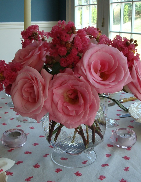 Roses and Crape Myrtle