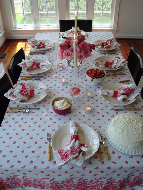 Birthday Brunch Table