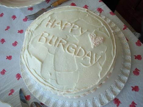 Burgday cake disaster